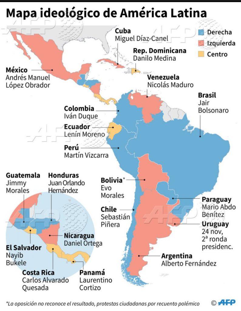 Mapa Con La Ideologia Politica De Los Paises De America Latina Apex Venezuela